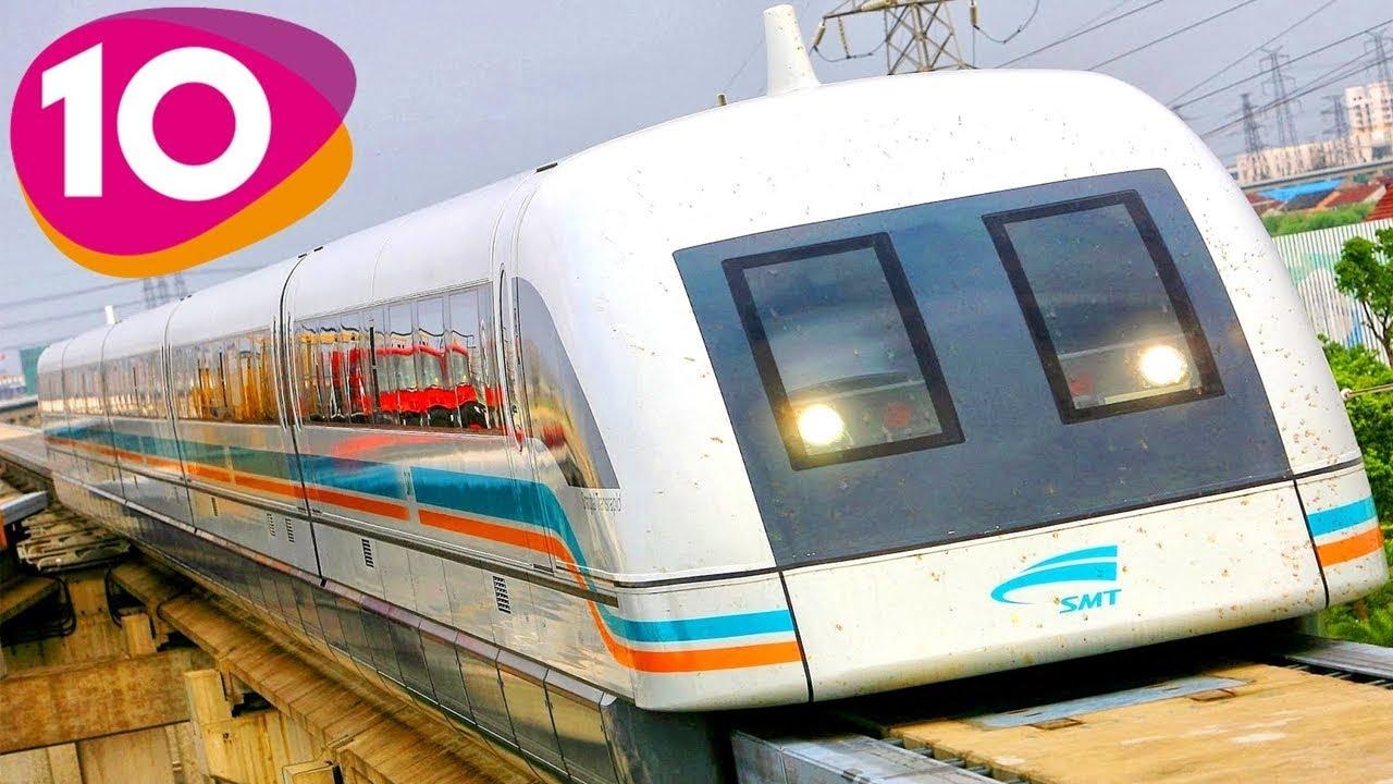 เร็วทะลุนรก !! 10 รถไฟความเร็วสูง ที่เร็วที่สุดในโลก # 10 fastest trains in the world