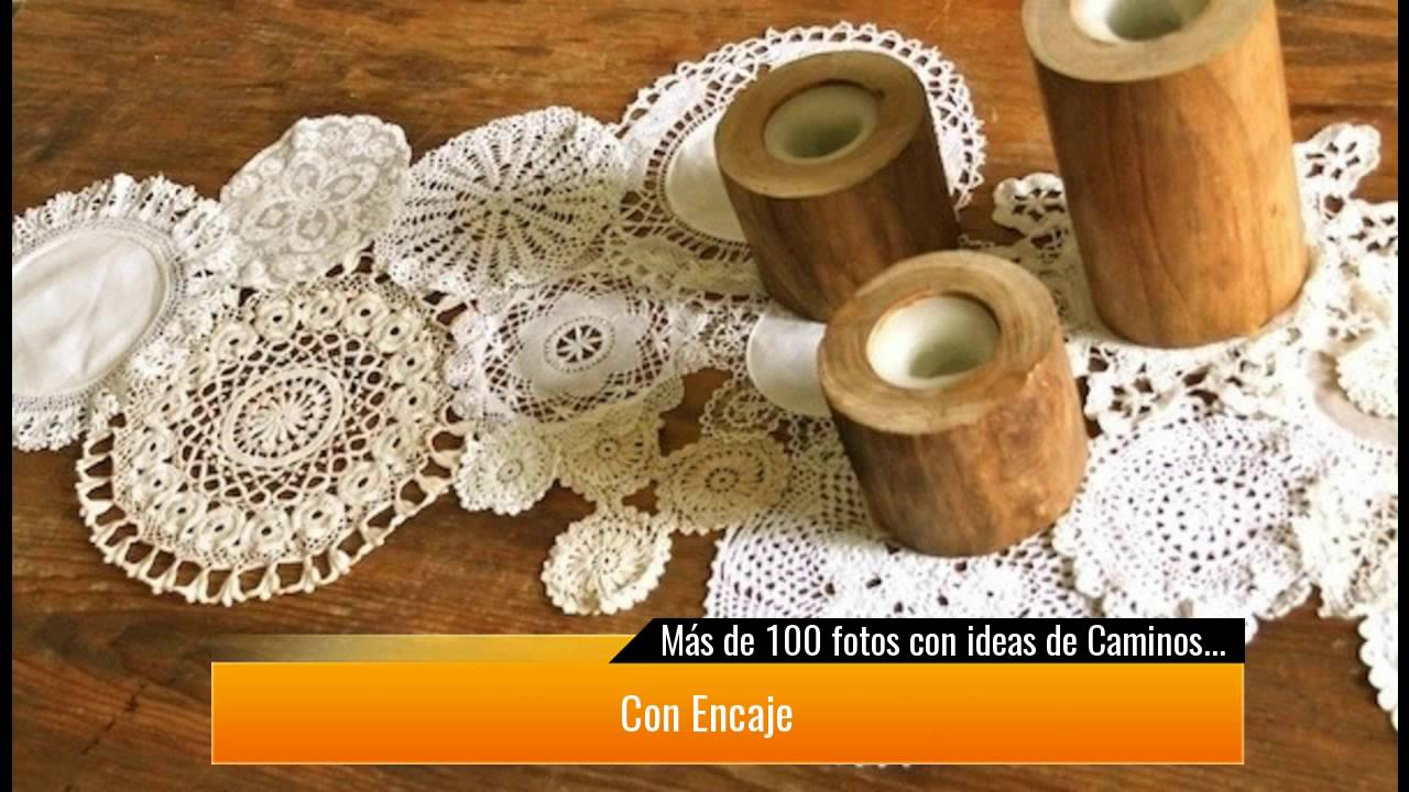 de fotos con ideas de caminos de mesa para decorar la mesa