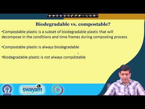 Lecture 31 : Possible Alternate Materials to Plastics - Greener Alternatives