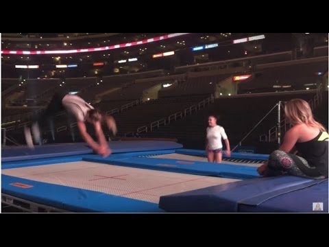 Trampoline Fun with Laurie Hernandez! | Shawn Johnson