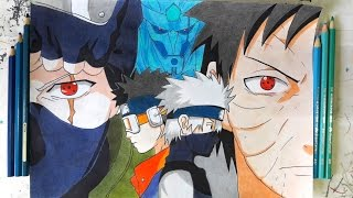 DRAWING KAKASHI & OBITO (Requested)