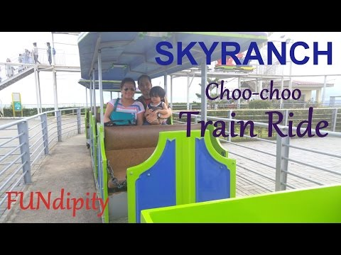 Fun Family Train Ride at Sky Ranch City Rail Outdoor Amusement Park for Kids and the whole Family
