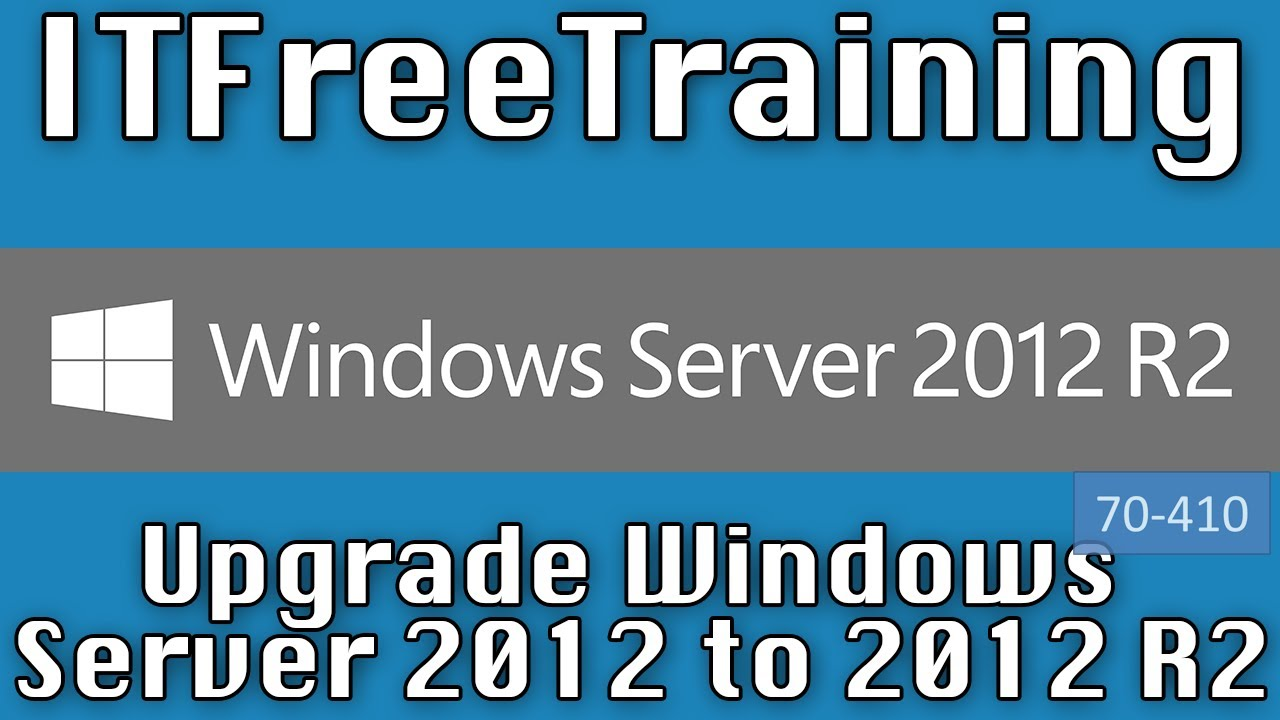 Upgrade Windows Server 2012 To 2012 R2 Youtube