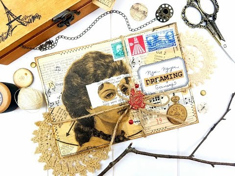 JUNK JOURNAL STYLE HAPPY MAIL (video process)