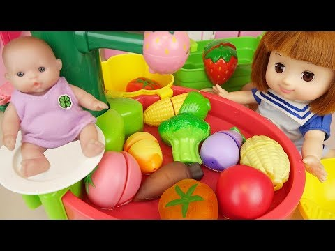 Baby doll fruit wash sink kitchen toys baby Doli play