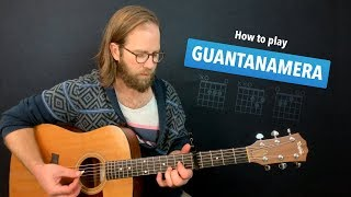 🎸 Guantanamera • Easy guitar lesson w/ chords (Pete Seeger / Sandpipers)