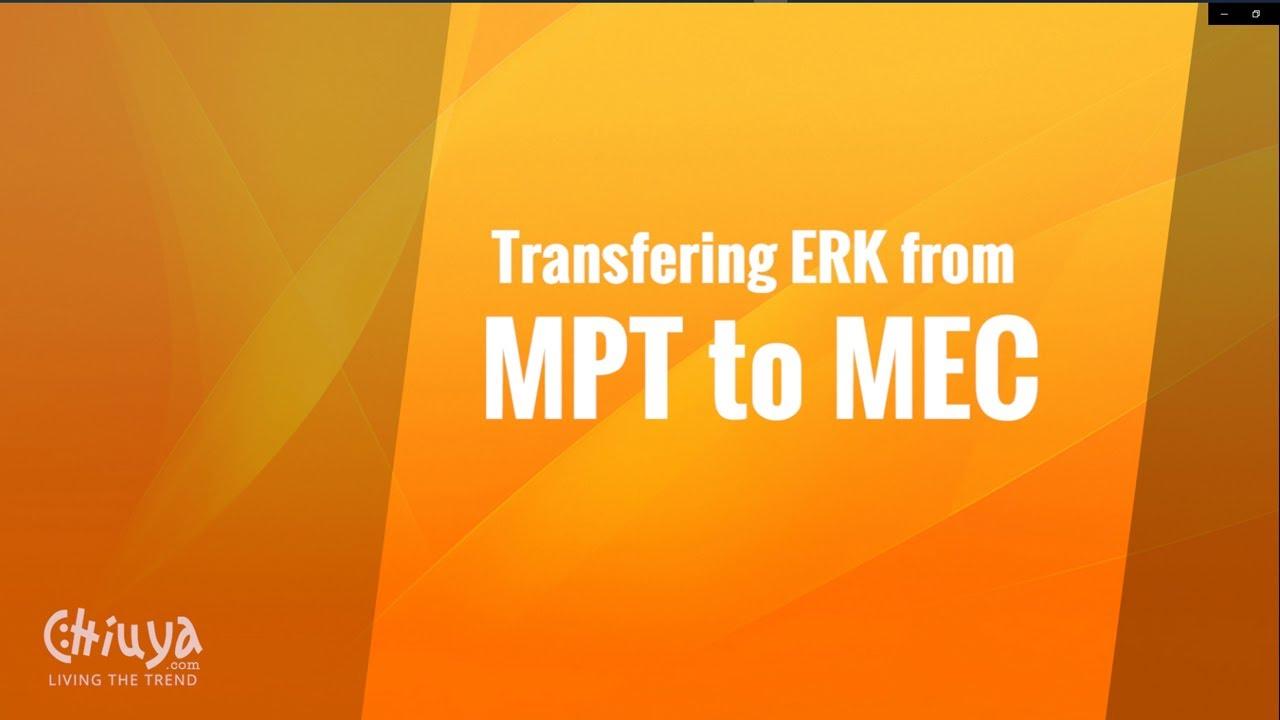 My Passive Trades to My Eureka Club ERK Transfer
