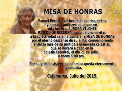 Invitación A Misa De Honras Youtube
