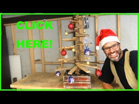 How To Make A Christmas Tree Awesome Scrap Pallet Wood Project Youtube
