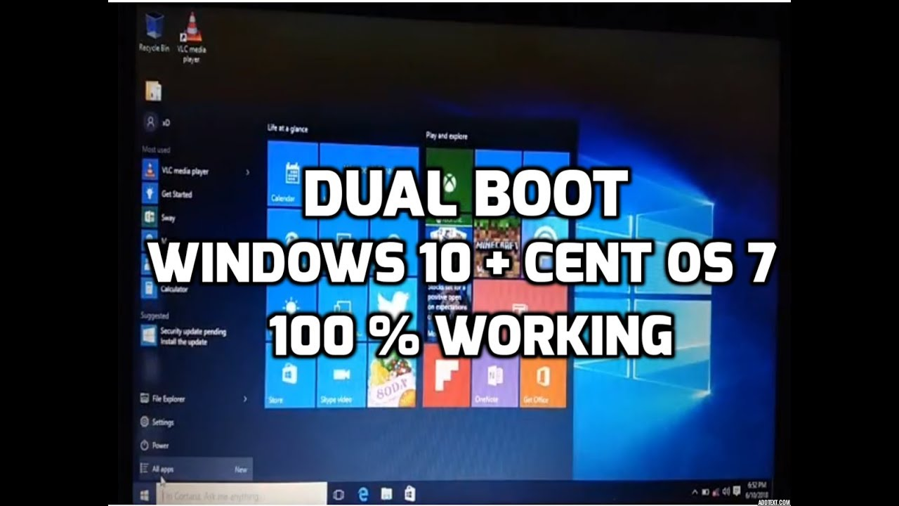 How to Dual Boot CentOS 7 & Windows 10