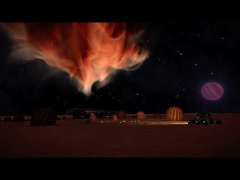 Elite   California Nebula - Alliance Outpost CG & Space Mushrooms