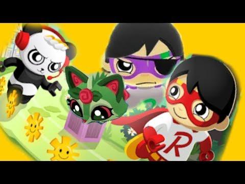 Let's Play Tag With Ryan Challenge! - Ryan Vs Pets  Dash Tag [Dark Titan And Red Titan Vs Rose]