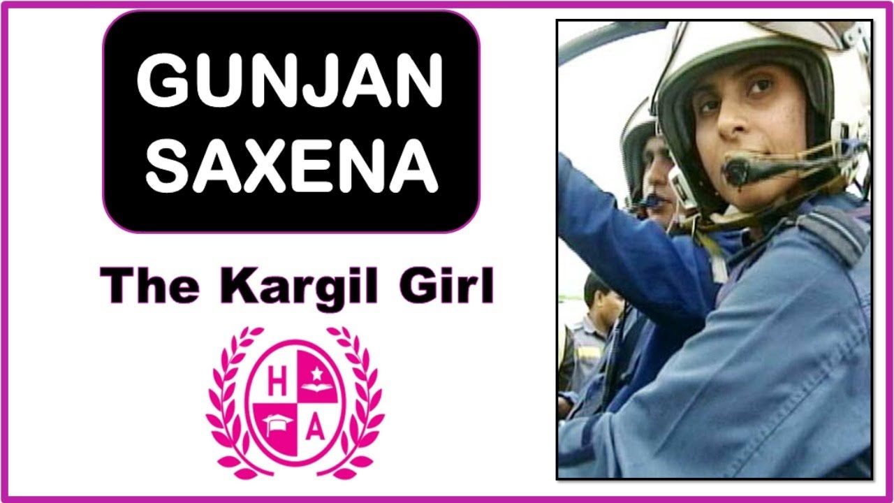 Gunjan Saxena The Kargil Girl True Story Gunjan Saxena Biography Current Affairs Happy Academy Youtube