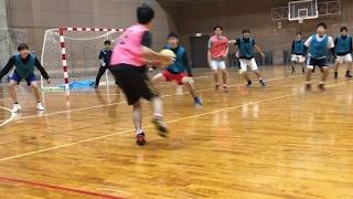 駒澤大学ハンドボール部2017年2月16日首都大/学習院大戦得点シーン