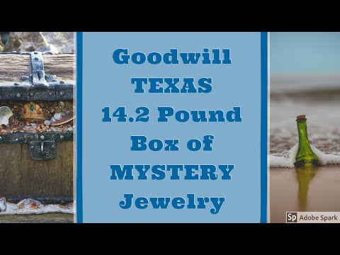 TEXAS GOODWILL 14.2 POUND MYSTERY BOX OF JEWELRY Part #1 Unboxing Unjarring Unpacking Silver? Gold?