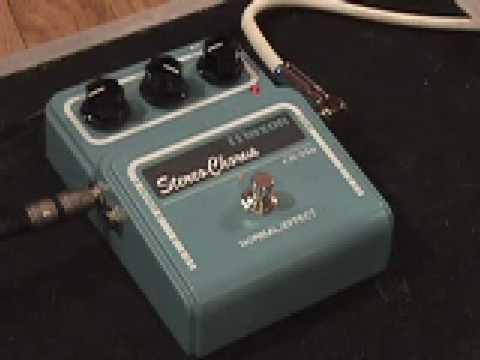 Maxon CS-550 Stereo Chorus guitar effects pedal demo