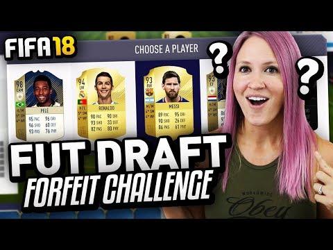 FIFA 18 PINK HAIR DYE FORFEIT FUT DRAFT CHALLENGE!