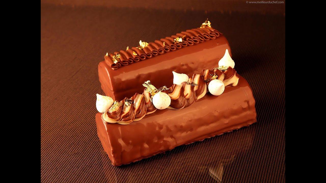 recette de la b che de no l chocolat poires d 39 ric l autey youtube. Black Bedroom Furniture Sets. Home Design Ideas