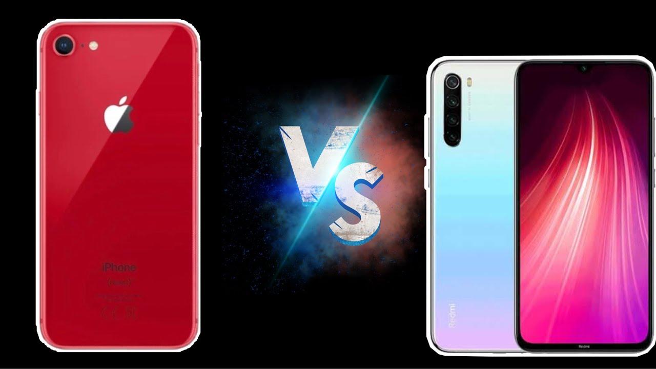 iPhone 8 VS Redmi Note 8 - YouTube