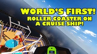 World's First Roller Coaster on a Cruise Ship! Bolt POV! Carnival Cruise Line Mardi Gras