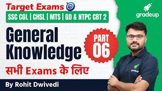 General Knowledge Imp Questions Part 6   CGL,CHSL,MTS,GD \u0026 CBT 2   Rohit Dwivedi   Gradeup
