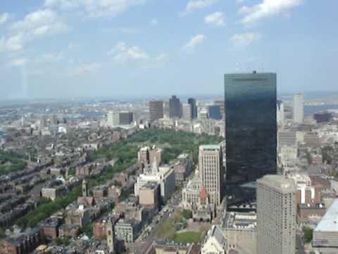 Вид на Бостон с крыши небоскреба. Panorama of Boston.
