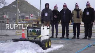 Snow shoveling robots plough the competition in Toronto