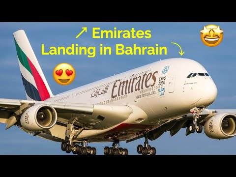 Emirates Landing in Bahrain International Airport | August 2017 | Bahrain International Airport