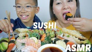 SUSHI MUKBANG| ASMR Eating Sounds | N.E Let's Eat