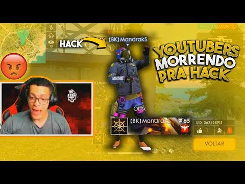 YOUTUBERS MORRENDO PRA HACK - Free Fire (clips)