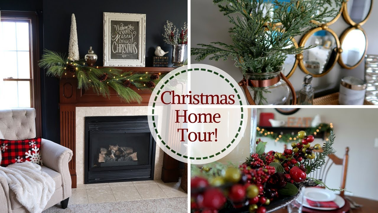 christmas home decorations 2017 christmas home decor tour s house christmas 2017 10598