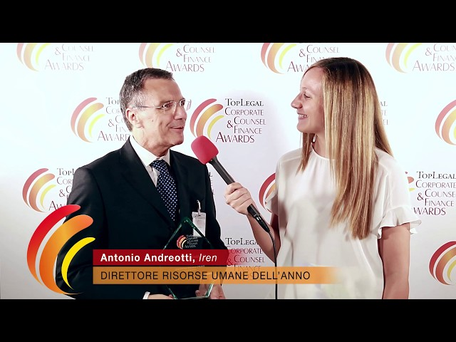 Antonio Andreotti, Iren - TopLegal Corporate Counsel & Finance Awards 2019