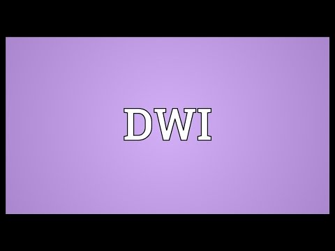 DWI Meaning
