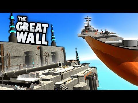 The GREAT WALL vs STEAMPUNK AIRSHIP!  (Ravenfield New Update Gameplay)