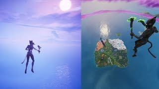 How to pass the sky and side death barrier! || Fortnite glitch