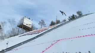 AUSTRIAN BREAKS PINE MOUNTAIN SKI JUMP HILL RECORD AT FIS CONTINENTAL CUP! | Jason Asselin