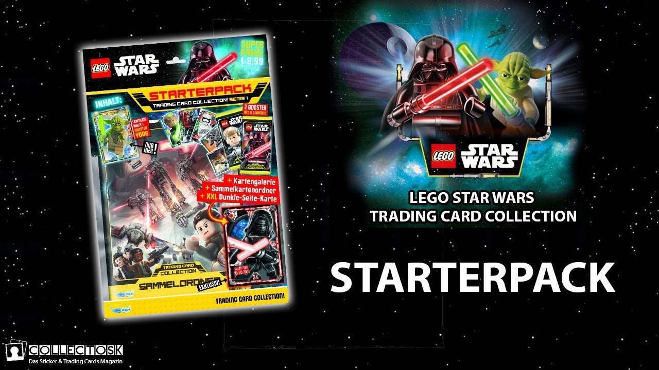 Star Wars Karte.Lego Star Wars Trading Card Collection Starterpack