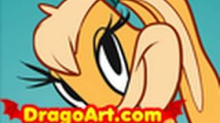 How to Draw Lola Bunny, Looney Tunes Show, Step by Step