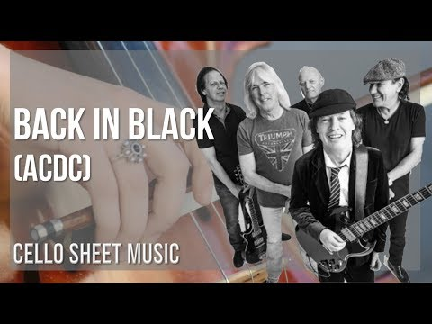 EASY Cello Sheet Music: How to play Back in Black by ACDC