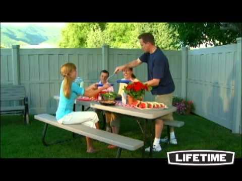 Table Résine Pliante avec bancs