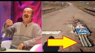 В Башкирии ямы на дорогах заделали брёвнами