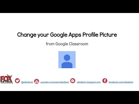 Change Google Apps Profile Pic using Classroom - YouTube