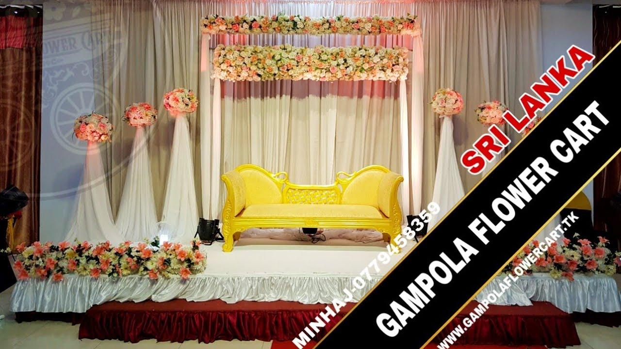 Wedding Deco Easy Wedding Decoration Ideas Flower Cart Sri Lanka Indonesia Malaysia India Youtube