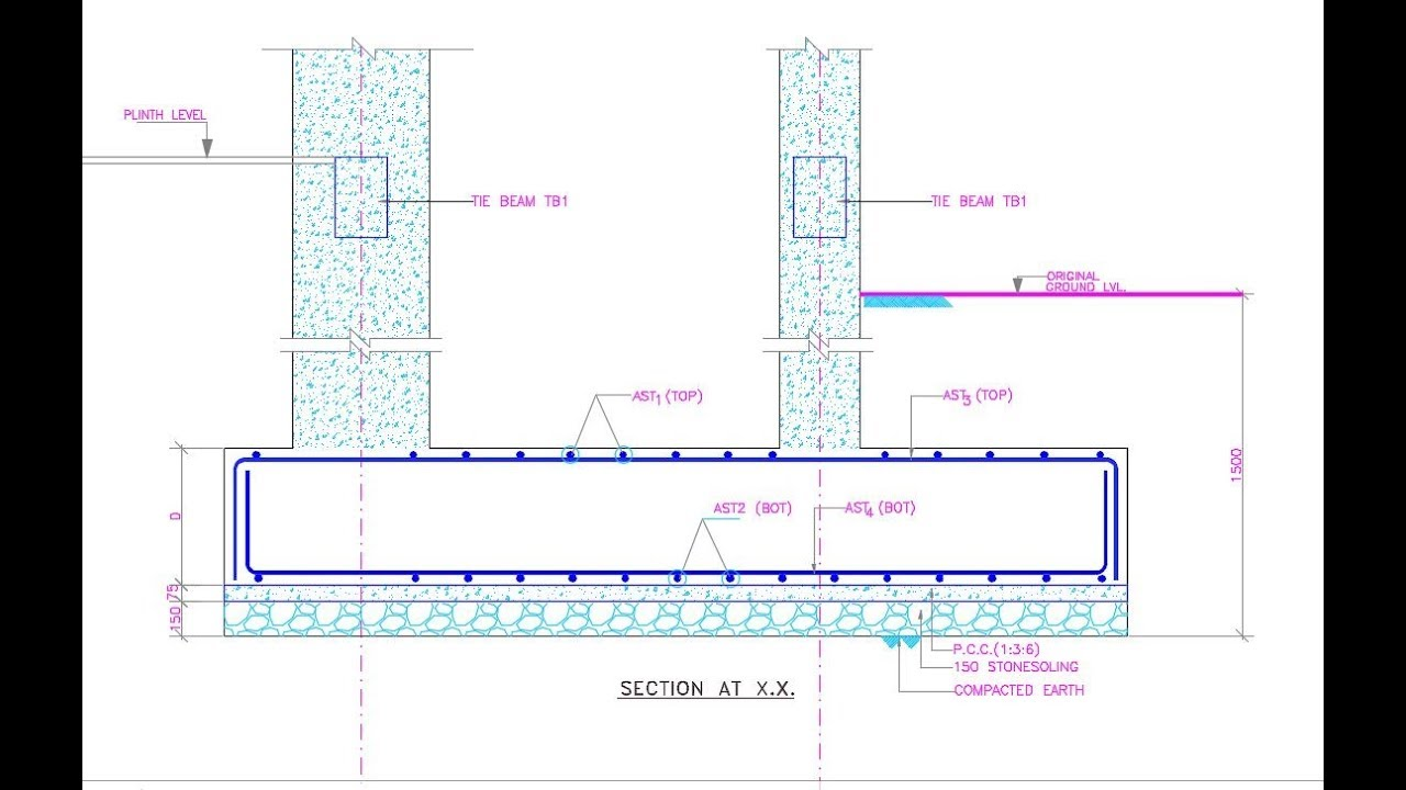 Combined Footing: Structural Drawing Reading and Construction
