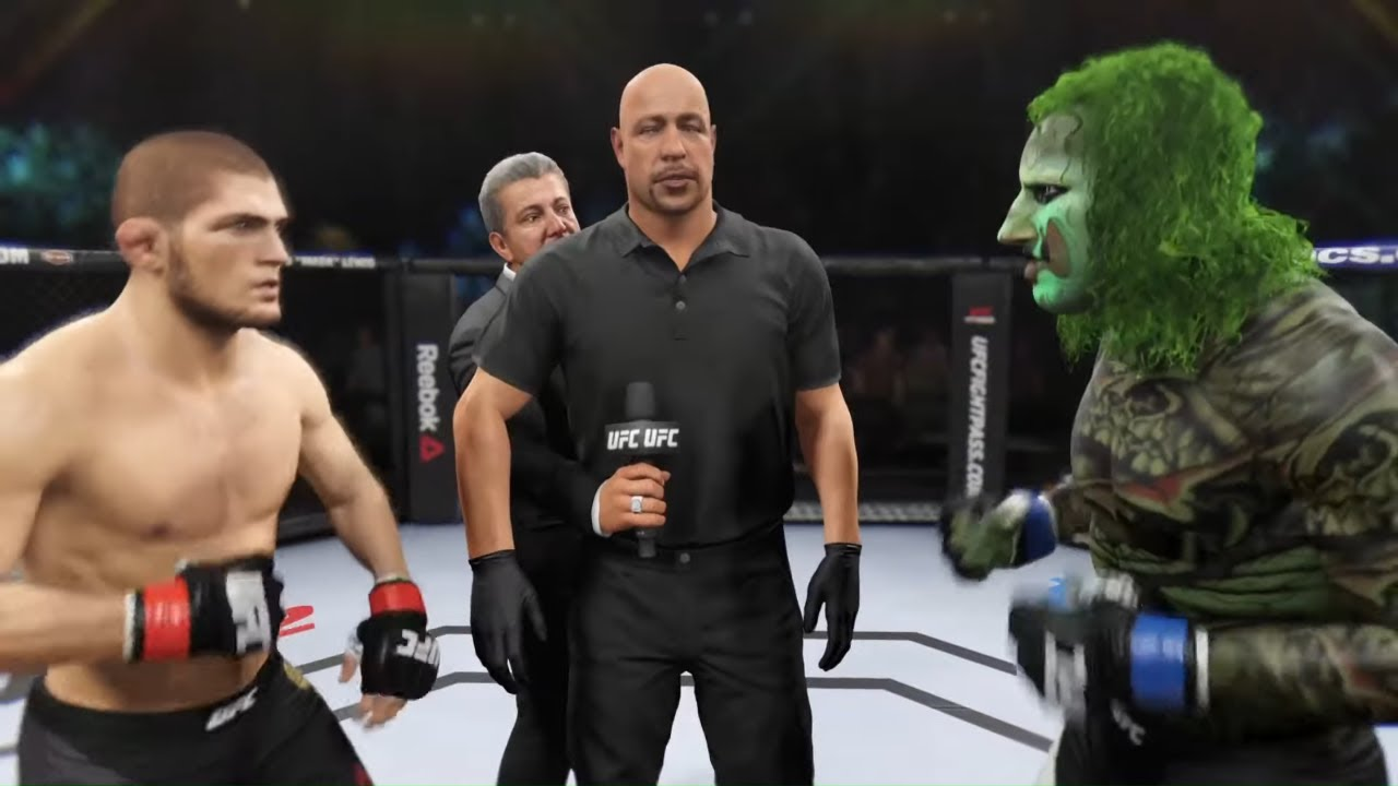 Khabib vs. Green Slime - EA Sports UFC 2 - Champion Fight