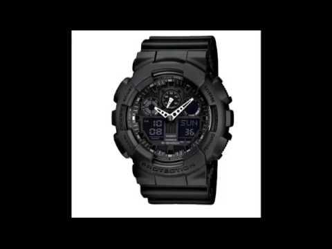 49e447b14de Relógio Estilo Cassio G-Shock GA 100 com Pulseira de Borracha - YouTube