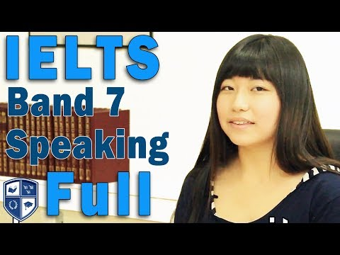 IELTS Speaking - Chinese Student - Band 7