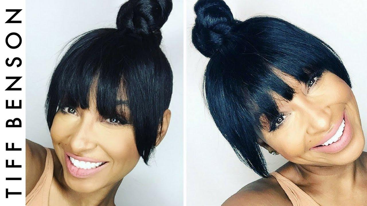 top knot with faux bangs | 4 easy steps hair tutorial | vanity box hair