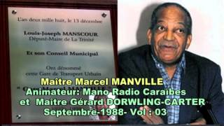 Mano RCI Martinique  &  Gerard Dorwling carter- Hommage à  Marcel Manville Vol 03