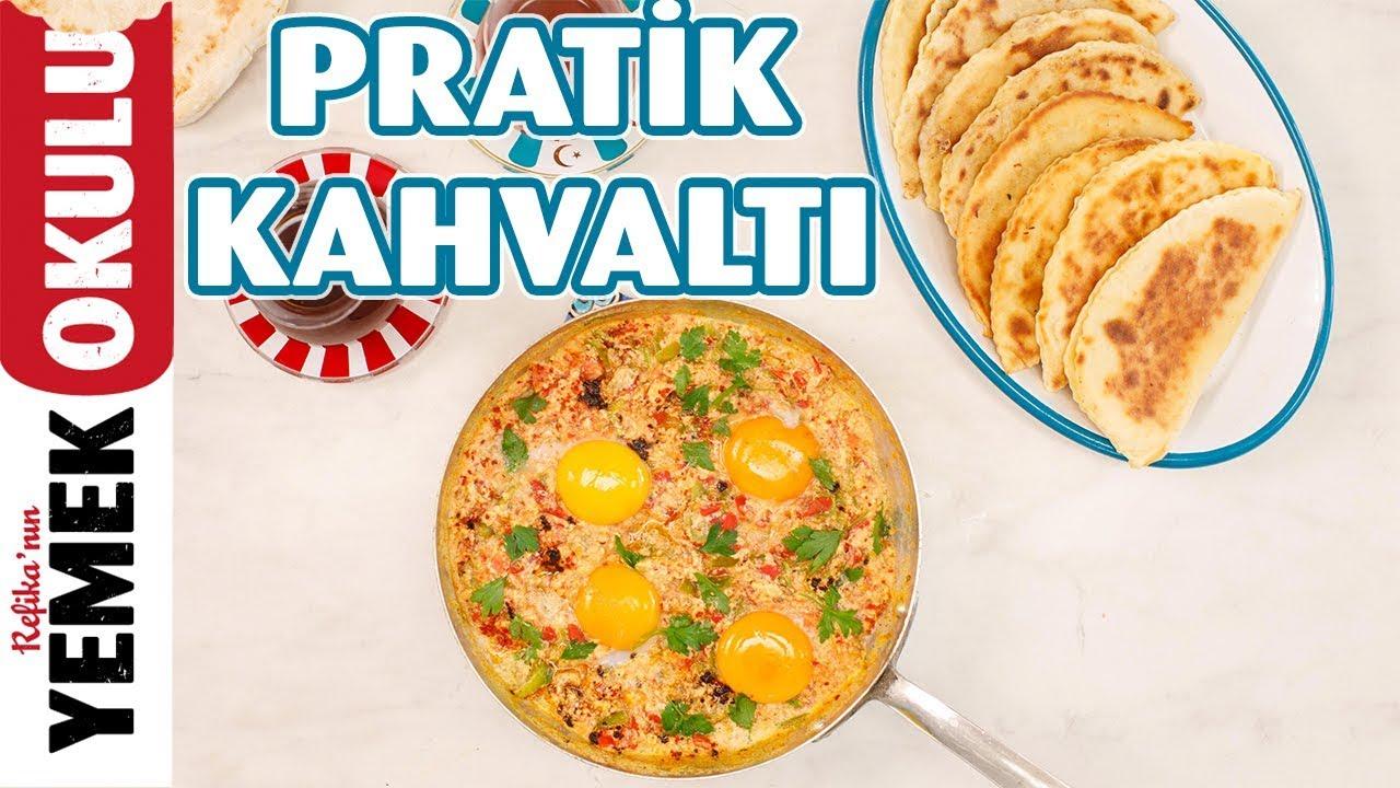 2 Tarif Bir Arada; Kolay ve Hafif Kıymalı Börek & Sahan Yumurtalı Pratik Menemen Tarifi